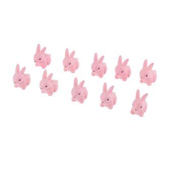 BolehDeals 10 buah dekorasi miniatur kartun kelinci rumah bonekabonsai peri taman pemandangan