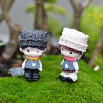 BolehDeals 2 x Miniatur Micro taman peri pemandangan patungdekorasi rumah boneka Bonsai #2 - 2
