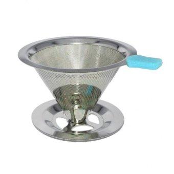 BolehDeals Stainless Pour Over Drip Mesh Coffee Tea Cone Filter Holder Maker #2 90mm -