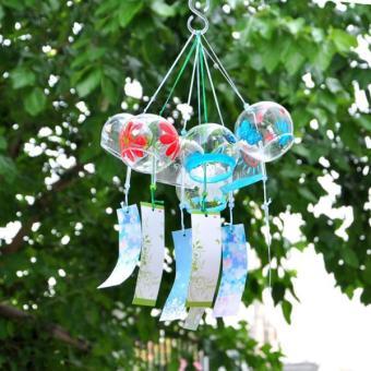 BolehDeals Wind Chime Glass Wind Bell Window Garden Decor Ornamentin Japanse Style #