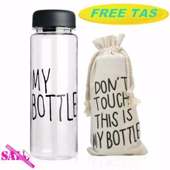 Botol Minum Air My Bottle Free Pouch- My Bottle Water Drinking Free Pouch- Babamu