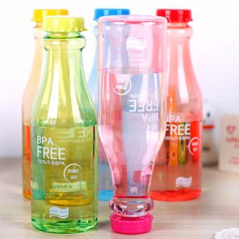 Bottle BPA Free Infused Water Portable Bag Sports Plastic FruitJuice Water Cup Bottle Bag - Botol Murah Botol Unik Botol MinumBotol BPA Free Botol Tumblr Botol Kekinian Botol Lucu Botol MinumSehat Botol Minum Anak Botol Minum Anti Tumpah Mix Colour