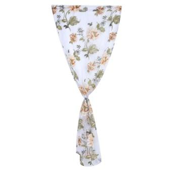 Bunga Cemerlang Fashion Window Benang Gorden (Coklat)-Intl