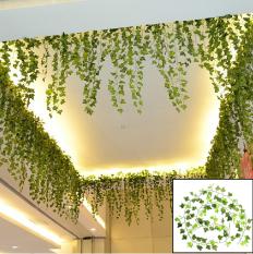 Buatan Hijau Daun Ivy Anggur Palsu Garland Dedaunan Tanaman Rumah Dekorasi Pernikahan