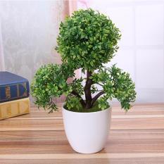 Buatan Plastik Trigeminal Bunga Pot Bonsai Tanaman Palsu Karena Dekorasi Warna: Hijau
