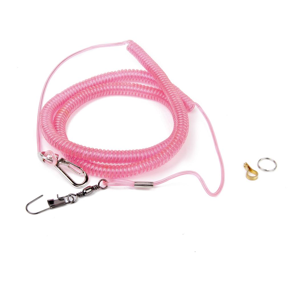 Burung Beo tali Kit anti gigit tali untuk latihan terbang matahariparkit sampan (Berwarna Merah Muda)