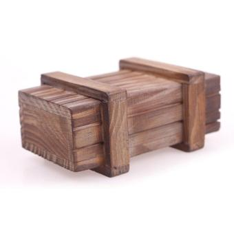 BUYINCOINS Magic Wooden Puzzle Box Puzzle Wooden Secret TrickIntelligence Compartment Gift