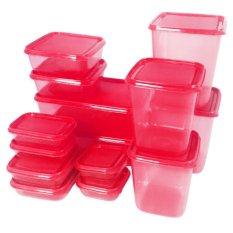 Calista Otaru Sealware Set 7G Premium - 14 Buah - Merah