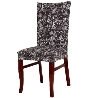 Chair Cover Home Decoration Suitable for Home Office Hotel Fashionable - Paris Tower - intl