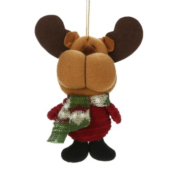 Christmas Decoration Artificial Reindeer Snowman Santa Claus Christmas Gift(Multicolor)-Elk - intl
