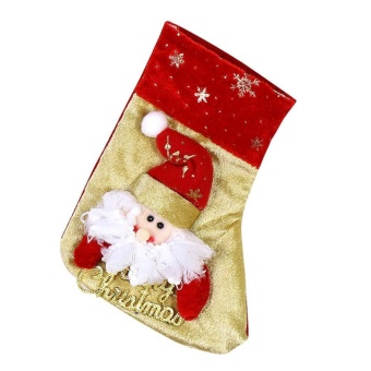Christmas Sock Gift Candy Bag Xmas Tree Hanging Ornament Home Decoration(Red)-Santa Claus - intl