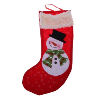 Christmas Stockings Socks Santa Claus Candy Gift Bag(Red) - intl