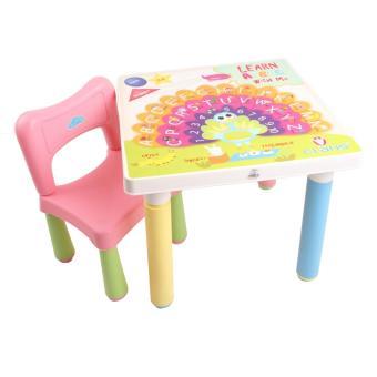 harga Claris Set 1 Bangku Anak Kidzone dan Meja Anak - Pink Lazada.co.id