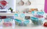 ... Clip Fresh Plastic Round Container 500mL - Transparan/Lid Violet - 5