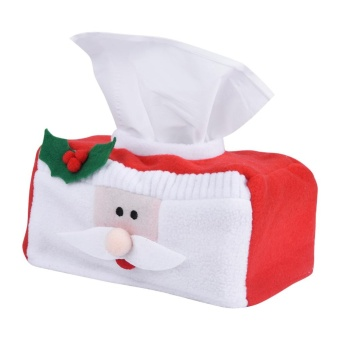 Creative Christmas Rectangle Tissue Box Cover Paper Holder CaseHome Decoration (Santa Claus S) - intl