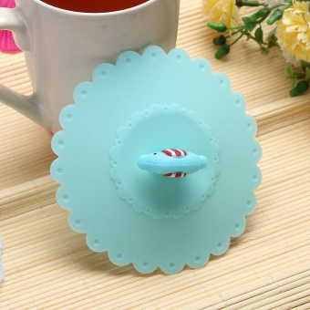 ... Cute Anti-dust Silicone Glass Cup Cover Coffee Seal Lid Cap (Elephant) ...