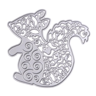 Cute Squirrel Metal Die Cutting Dies Stencils For DIY Scrapbooking - intl