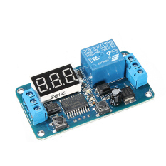 ... DC 12 V LED Display Digital Siklus Relay Timer Control Switch Modul PLC