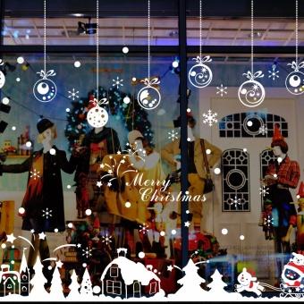 Dekorasi Natal mal jendela toko kisi-kisi jendela ...