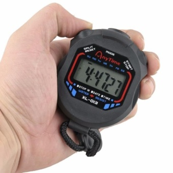 Digital Professional Handheld LCD Chronograph Sports Stopwatch Timer Stop Watch - intl