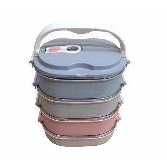 Bandingkan Toko Dinemate Eco Lunch Box Stainless Steel Rantang Oval 4 Susun harga baru - Hanya