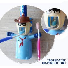 Dispenser Pasta Gigi Dan Sikat Gigi Warriors Bentuk Karakter Cowboy
