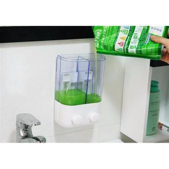 Dispenser Sabun 2 Tabung T02 Bisa Untuk Tempat Shampoo & SabunMandi - 3