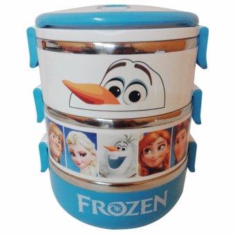 diva-Davi Lunch box rantang susun 3 stainless steel karakter - biru