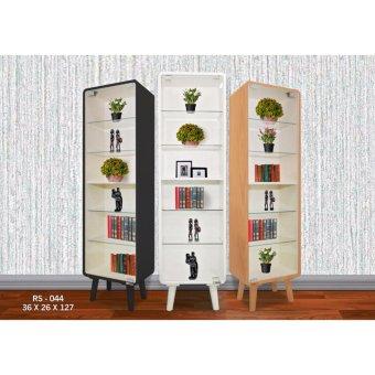 harga Dove's Furniture Rak Serbaguna RS-044 - rak kaca pajangan / rak koleksi - dark brown Lazada.co.id