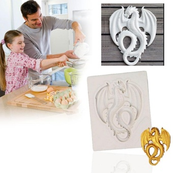 Dragon Silicone Mould Cake Moulds Decor Sugarcraft Gum paste Clay Kitchen - intl