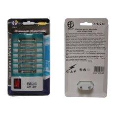EELIC 224 SMD LED Biru Muda x 2Pcs Multifungsi Alat Electronik Pengusir Nyamuk / Lampu tidur - Mosquito Repellent Lamp