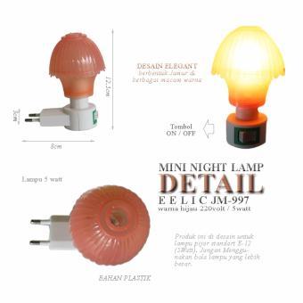 EELIC JM 997 Mini Warna Orange Model Jamur Lampu cantik Malam Hari Tidak .