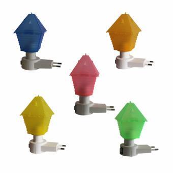 EELIC LAU-JM992 5 PCS ANEKA WARNA Mini Lamp Lampu Tidur Model Rumah Mungil Dimalam