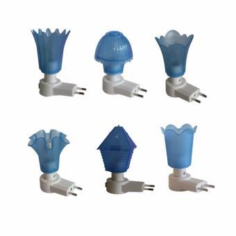 EELIC LAU-JM99MIX BIRU 6 PCS ANEKA MODEL Mini Lamp Lampu TidurBunga Cantik Malam Hari