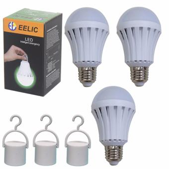 EELIC LED LAU-E7W Isi 3PC 220V E27 Lampu Intelligent EmergencyDarurat