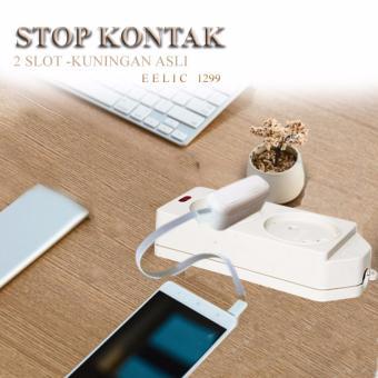 EELIC STK-1299 CREAM Stop Kontak 2 Lubang Socket Untuk Steker 2Kaki SNI - 4