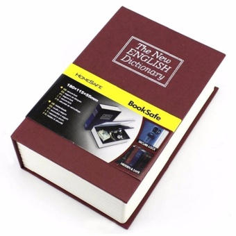 Eigia Security Safety Box Brankas Bentuk Buku Kamus Dictionary Cash Metal Jewelry Key Lock Book Storage