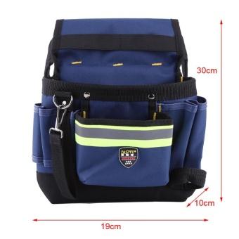 Detail Gambar Electrician Waist Bag Tool Holder Convenient Work Organizer Pouchwith Belt - intl Terbaru