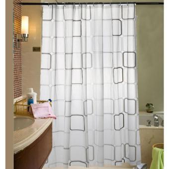 Emyli Tirai Motif Kamar Mandi Shower Curtain 180 x 200
