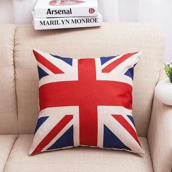 England National Flag Pattern Sofa Cushion Pillowcase Cotton Linen Soft Throw Pillow Cover Home Decor -