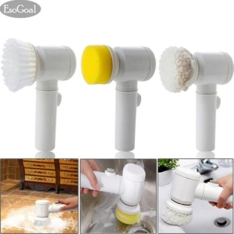 EsoGoal Power Scrubber Electric Cleaning Brush Battery Powered Cordless Spin Scrubber for Kithchen/Bathtub/