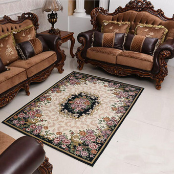 European-style Jacquard Sofa Floor Mats Doormat Rugs and CarpetsArea Rug for Home Decoration(