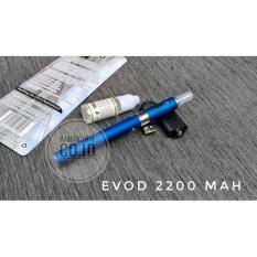 EVOD 2200 MAH PLUS E-LIQUID 10 ML RASA BUAH ROKOK ELEKTRIK VAPE VAPO