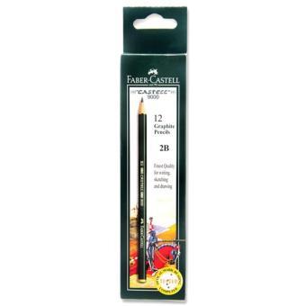 Faber-Castell Graphite Pencil Castell 9000 2B [1 Pack/12 Pcs]