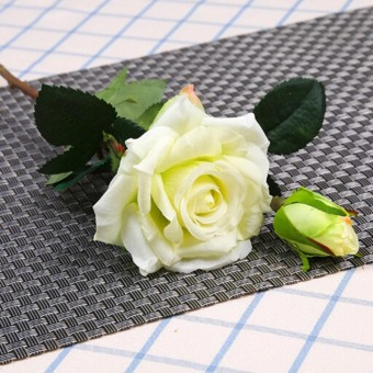 Fang Fang Real Touch Rose Artificial Latex Silk Flowers Wedding Bouquet Home Decoration - intl
