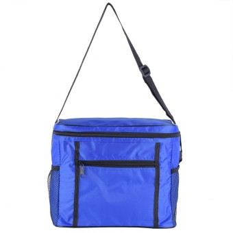 Fashionable Camping Picnic Thermal Cooler Lunch Box Travel Portable Food Storage Bag (Blue) -