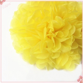 Festival wedding flowers Flowers wedding Decoration flower Ball - Yellow 6inch - intl