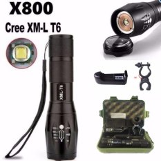 FFY Bright 6000LM X800 Shadowhawk CREE T6 LED Senter Torch Lampu G700 Light Kit-Intl