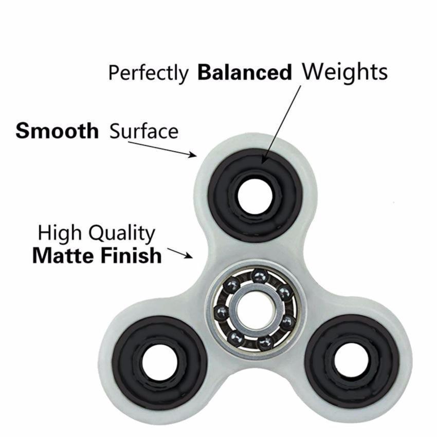 Fidget Spinner Hand Toys Mainan Tri-Spinner EDC Ceramic Ball Focus Creative .