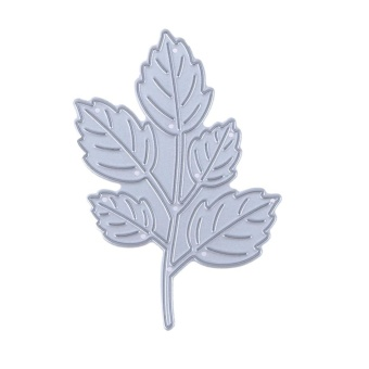 Five Leaves Branch DIY Metal Embroidery Craft Cutting Die - intl